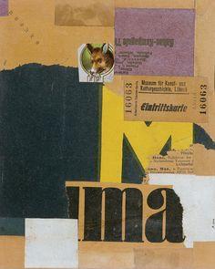 """""""Billete de entrada (Mz 456)"""" (1922) - Kurt Schwitters"""