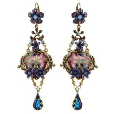 Michal Negrin Jewelry Crystal Hook Earrings