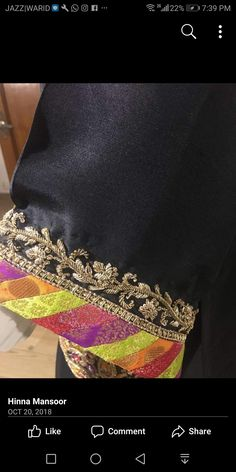 Embroidery Dress, Hand Embroidery, Embroidery Designs, Saree Blouse Patterns, Saree Blouse Designs, Designer Wear, Designer Dresses, Baby Lehenga, Kurti Sleeves Design