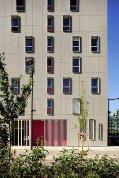 Lyon, housing. Rue Royale Architectes. EQUITONE facade materials…