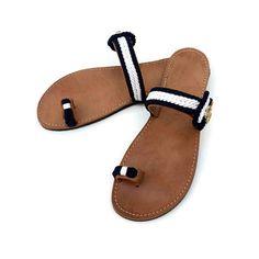 GLARONISI - Handmade Ancient Greek Leather Sandals / Gladiator / Spartan / Women Flat Shoes / Summer Flip Flop