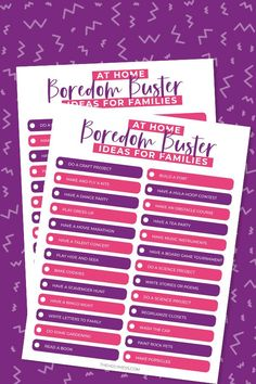 Free Printable At Home Boredom Busters for Kids and Families. Feeling the crunch of extra time at home? Get this free printable list of fun stuff to keep kids busy. #families #stayhome #familyfun Chore Jar, Boredom Busters For Kids, Raising Godly Children, Work On Writing, Ties That Bind, Christian Parenting, About Time Movie, Home Schooling, Music Lessons