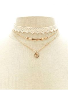 GET $50 NOW | Join RoseGal: Get YOUR $50 NOW!http://www.rosegal.com/necklaces/faux-lace-rhinestone-heart-choker-716563.html?seid=6883214rg716563