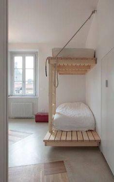 Lit superposé en bois de palette