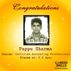 Success is not a destination but a journey and this is one of the many upcoming milestones achieved by our students, Career Skills congratulates Pappu Sharma on being placed.