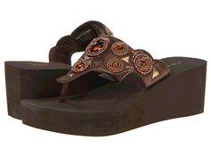 Roper Jeweled Cutout Wedge Sandal