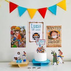 One Piece Birthdays, Min Yoongi Wallpaper, Anime Cake, Nana Banana, One Peace, Birthday Party Decorations, Birthday Backdrop, One Piece Luffy, Party In A Box