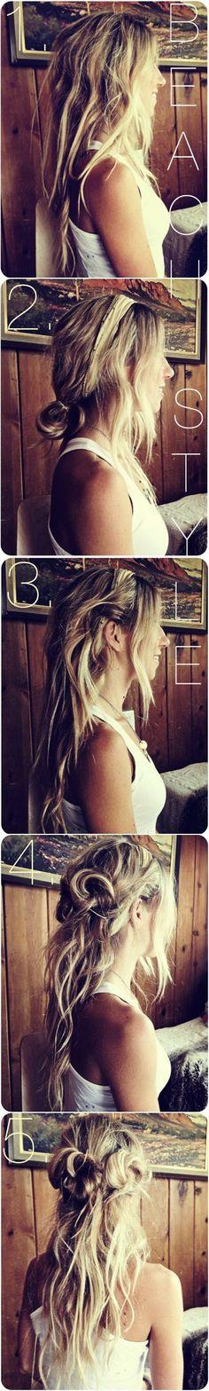 beach style. beach hair