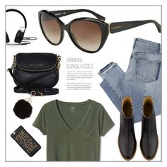 """Today's Look"" by smartbuyglasses ❤ liked on Polyvore featuring Gap, Mix Nouveau, A.P.C., Michael Kors, Armitage Avenue, Beats by Dr. Dre, casual and black"