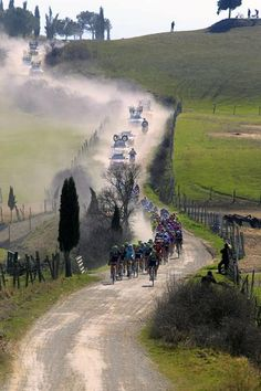"March 3, 2012, Italy - Fabian Cancellara (RadioShack-Nissan) dominated the Strade Bianche endgame and powered to a solo victory after 190k over the ""white roads"" of Central Italy"