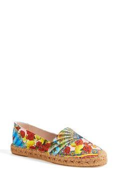 Dolce&Gabbana Printed Espadrille Flat (Women) Nordstrom