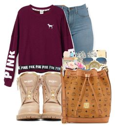 """""""Untitled #359"""" by stay-sassy ❤ liked on Polyvore featuring Victoria's Secret PINK and Balmain"""