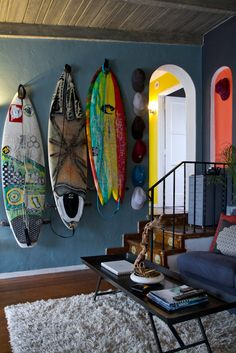 I'm going to live in Hawaii and have surf boards decorating my walls....some day!!!