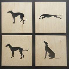 Set of 4 Greyhound Coasters £14.00