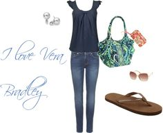 I Love Vera Bradley!, created by iluvbwithmyfrendz on Polyvore