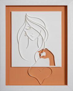 JE T'IMAGINE -   Papier découpé et quilling - reproduction photographique sur carte d'art par ArtPapier sur Etsy https://www.etsy.com/fr/listing/160745432/je-timagine-papier-decoupe-et-quilling