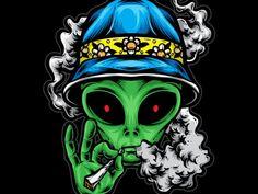 Chill Alien t shirt vector file Alien Drawings, Trippy Drawings, Art Drawings, Art Alien, Alien Vector, Alien Tattoo, Stoner Art, Weed Art, Wolf Tattoo Design