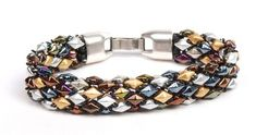 DiamonDuo and Demi Round bracelet, by Tammy Honaman. tubular peyote ~ Seed Bead Tutorials