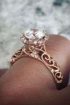 Vintage Engagement Rings With Stunning Details ★ engagement ring trends 2018 vintage gold diamond Wedding Rings Simple, Wedding Rings Solitaire, Princess Cut Engagement Rings, Beautiful Engagement Rings, Wedding Rings Vintage, Engagement Ring Styles, Bridal Rings, Vintage Engagement Rings, Unique Rings