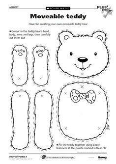 Use for teddy bear/hibernation day. teddy bear picnic- Free from Scholastic Teddy Bear Crafts, Teddy Bear Day, Teddy Bear Themes, Polar Bear, Early Years Teaching, Goldilocks And The Three Bears, Bear Party, Preschool Activities, Bear Crafts Preschool