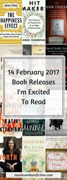 14 February 2017 releases I'm looking forward to reading, including 7 nonfiction and 7 fiction titles. #books #bookreleases #newbooks #february2017bookreleases