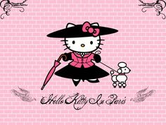 Wallpapers Cartoons > Wallpapers Hello Kitty Hello Kitty in Paris by ticiamallory - Hebus.com