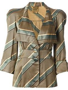 Shop Biba Vintage striped trouser suit in Decades from the world's best… Biba Fashion, I Love Fashion, Retro Fashion, Vintage Fashion, Fashion Design, Fashion Top, Fashion Styles, Dedicated Follower Of Fashion, Vogue