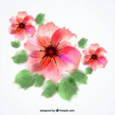 Flores da aguarela