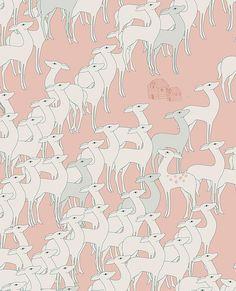 Soft deer : estampado para Texitura Magazine by missdesidia