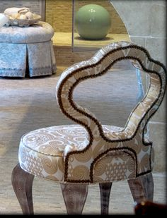 Barry Dixon Chair, Fortuny fabric