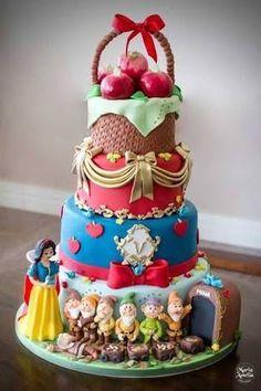 maquete bolo branca de.neve - Pesquisa Google