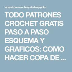 TODO PATRONES CROCHET GRATIS PASO A PASO ESQUEMA Y GRAFICOS: COMO HACER COPA DE TOP A CROCHET PASO A PASO