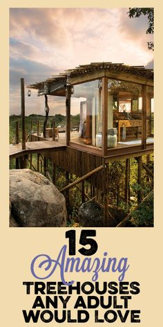 15 Amazing Treehouses Any Adult Would Love!