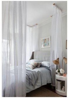 Home Decor Bedding, Diy Bedroom Decor, Bedroom Storage, Budget Bedroom, Bedroom Furniture, Ikea, Bed Curtains, Bed Canopies, Diy Canopy