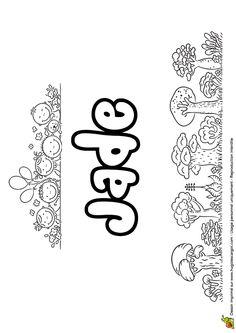 Amusant à colorier, le prénom de Jade écrit en version goûter