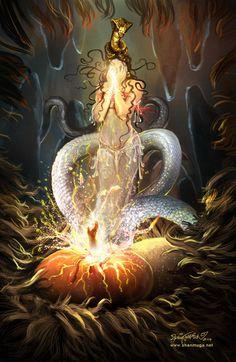Mahabharatham - The Great Indian Epic. Shiva Art, Ganesha Art, Hindu Art, Shiva Shakti, Indian Gods, Indian Art, Sketch Painting, Religious Art, Chinese Art