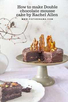 Recipe of Double chocolate Mousse cake by Rachel Allen - 10 Tart Recipes, Baking Recipes, Dessert Recipes, Chocolate Mousse Cake, Flourless Chocolate Cakes, Rachel Allen, Delicious Desserts, Yummy Food, Baking With Kids
