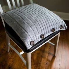 PDF PATTERN  Ribbed Knit Pillow   18x18 by TheCreativeGene on Etsy, $5.95. Another one you really don't need a pattern for.