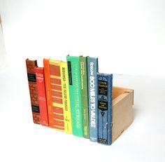 Decorative Storage Box Vintage Book Collection Wood Crate Desktop Storage Home Decor  sc 1 st  Pinterest & Secret Storage Box Vintage Book Collection Wood Storage Crate ...