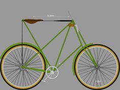 This is a model of the great Pedersen bicycle done in BikeCAD