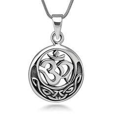 Tibetan Silver Rustic OHM OM Buddha Spiritual Yoga Necklace Charm Pendant.