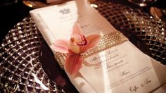 A Jeweled Band for the menu and napkin. #LuxBride