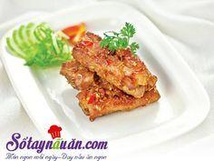 Cách làm món sườn chiên tỏi ớt cực dễ - Sotaynauan Lasagna, Cauliflower, Vegetables, Cooking, Ethnic Recipes, Food, Kitchen, Cauliflowers, Essen