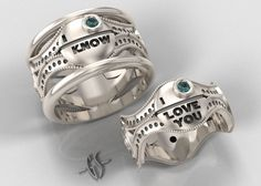 Wedding rings for girls Celtic wolf wedding ring