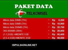 Paket data Telkomsel Isipulsaonline.net