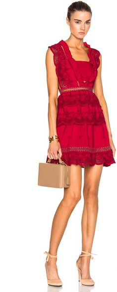 self-portrait Tiered Peplum Lace Dress | #Chic Only #Glamour Always