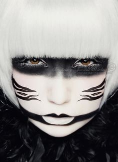 Black & White - This kinda reminds me of Smellerbee, one of the Freedom Fighters from Avatar: The Last Airbender. :D