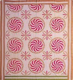 Pinwheel, 1840. Made by Annie Norton. Mississippi.