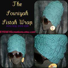 7ebc0eac59e RESERVED 4 YAHFAH - crochet headwrap headdress teal blue dreadlock african  regal rasta bohemian - ready to ship - The Souriyah Sistah Wrap
