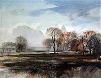 Autumn landscape by Rowland Hilder